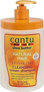Cantu Natural Hair Shampoo Cleansing Cream 25 Ounce Pump (3 Pack)