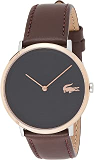 Lacoste Unisex-Adult Quartz Watch, Analog Display and Leather Strap 2010952