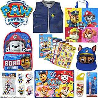 Paw Patrol Showbag Boys Gift Pack with Backpack Cap Drink Bottle Toys Stickers – Kids Show Bag - Birthday Christmas
