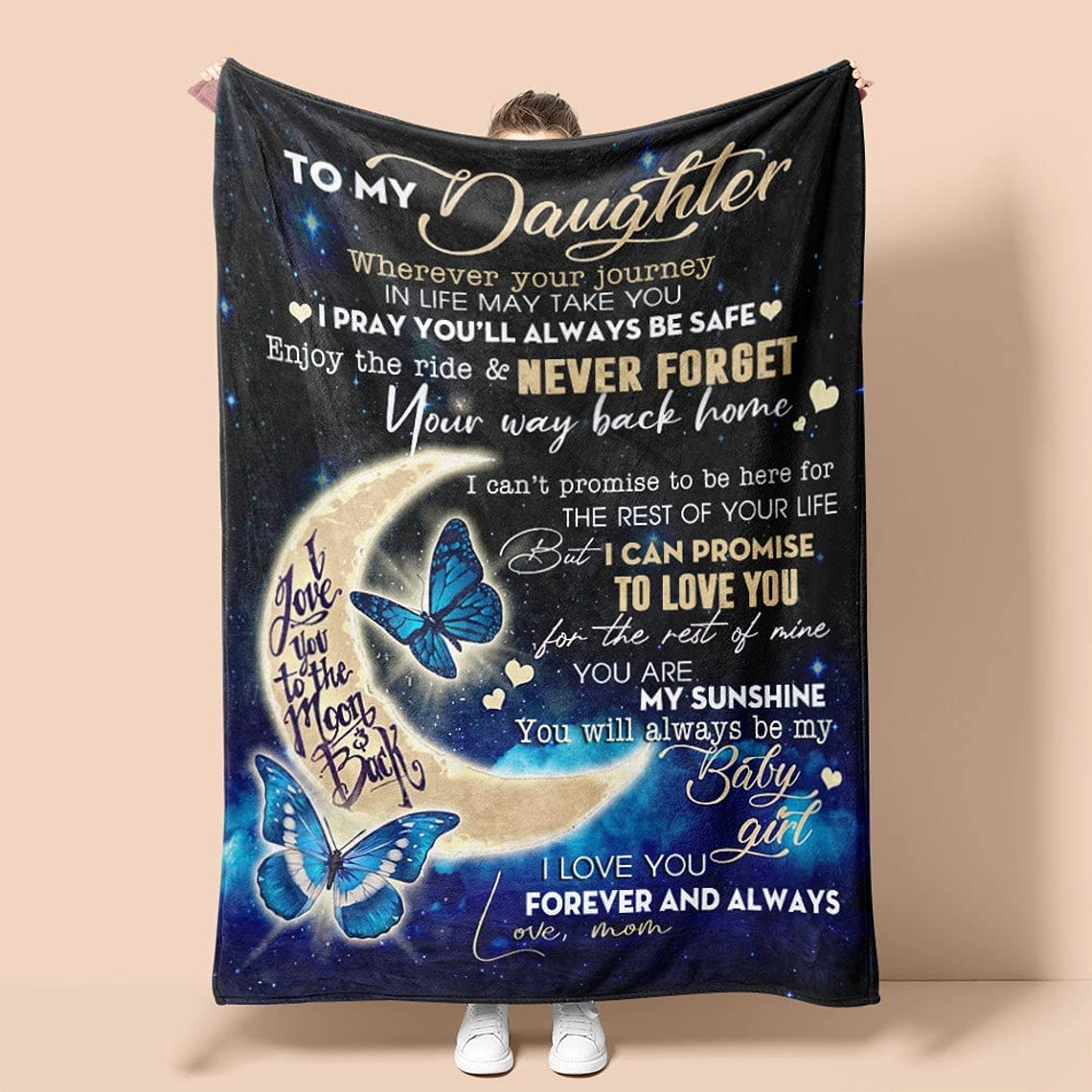 Outlet ☆ Free Shipping Custom Blanket for Daughter from fro My Limited time for free shipping to Mom