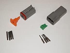 Deutsch DT Series 4 Pin Connector Kit w/Barrel Style Terminals 16-20 AWG
