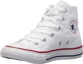 Converse Chuck Taylor All Star Canvas High Top Sneaker, Optical White, 11.5 M US Little Kid