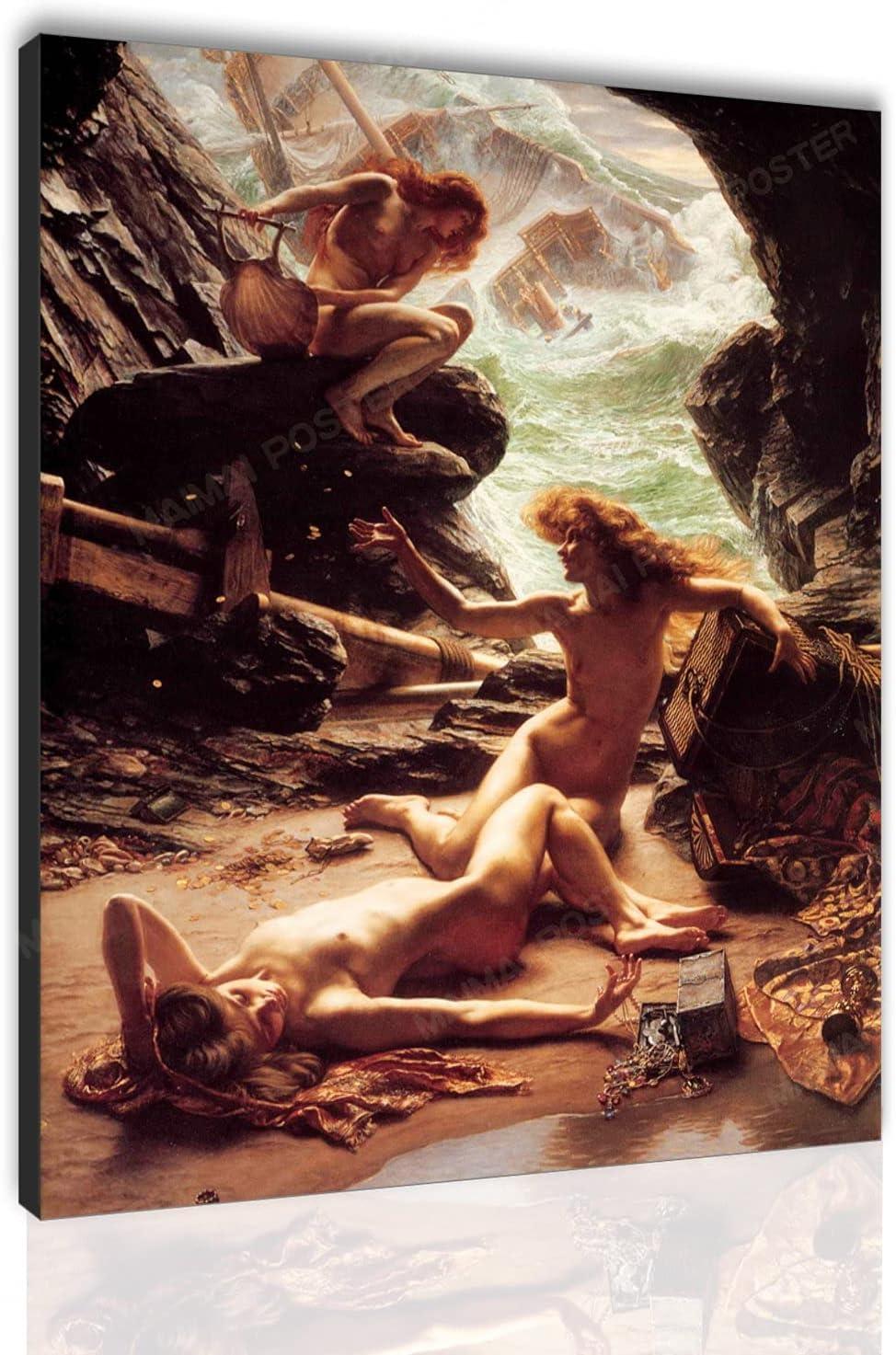 Female 日本製 Body Art Poster Vintage 祝開店大放出セール開催中 W Nude Painting Oil