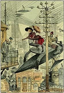 Albert Robida La Vie Électrique [Electric Life] c1890 Art Print
