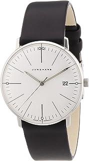 JUNGHANS - 047/4251.00 - Reloj analógico de Cuarzo para Mujer con Correa de Piel, Color Negro