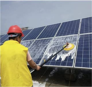 HCCHZR ウィンドウのクリーニングブラシ太陽光発電パネルのクリーニングブラシ自動回転リトラクタブルツール拭き取り伸縮ロッド洗浄装置 (Color : Dualpowerversion, Size : 7.5M)