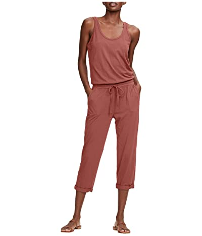 Michael Stars Cotton Modal Tank Jumpsuit (Red Clay) Women