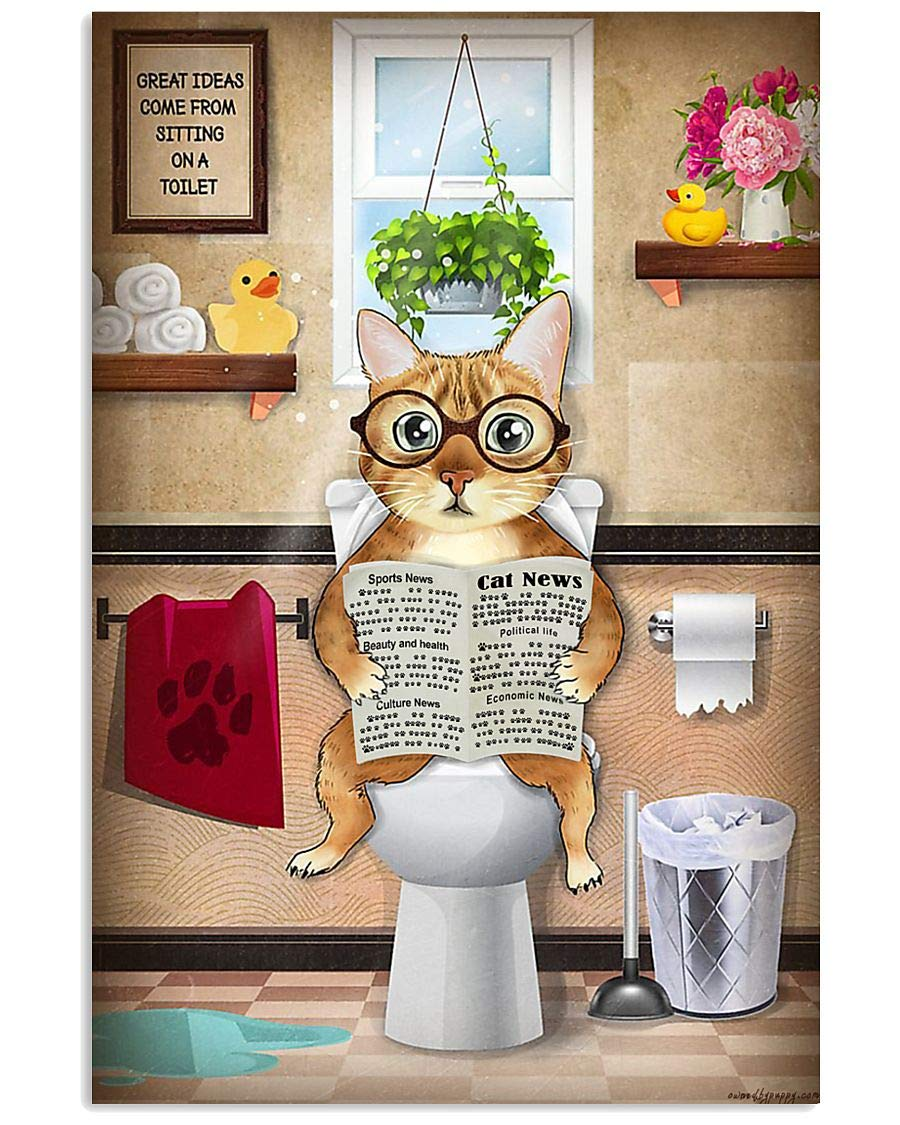 Cat Ideas Come From Sitting On Decor Poster Tampa Mall Toilet A Wall Fashion Bathro