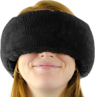 Wrap-a-Nap Travel Pillow, Sleep Mask & Ear Muff. Adjustable Soft Fleece Neck and Head Pillow. Machine Washa...