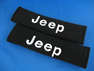 New Car Seat Belt Covers Shoulder Pads Pair for Select Brands (Jeep)