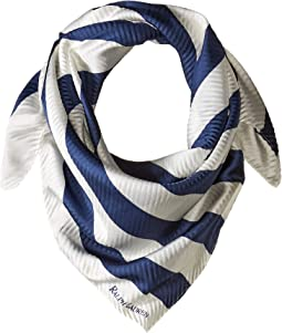 Pleated Stripe Square Scarf