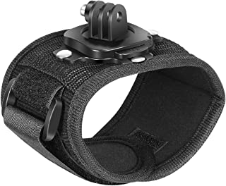 Neewer Wrist Strap Mount, 360 Degree Rotating Arm Band Holder Compatible with GoPro Hero 9 8 Max 7 6 5 Black 2018 Session ...