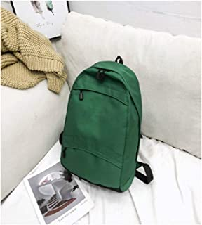 Casual Daypack,Slim Simple Lightweight Laptop Backpack,Outdoor Travel School Students Backpack for Men Women Green