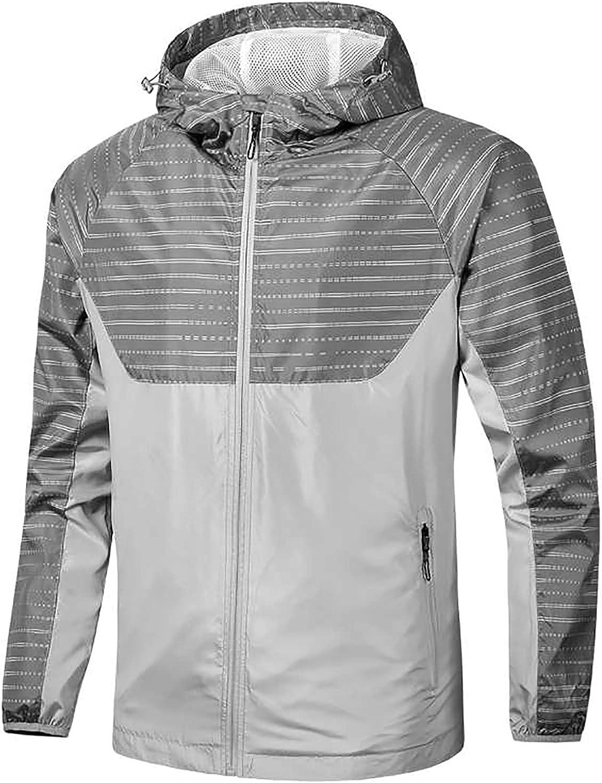 2021 Fashion Hood Raincoat for Men's Waterproof Coat Zipper Long Sleeve Solid Color Outdoor Jacket Trench