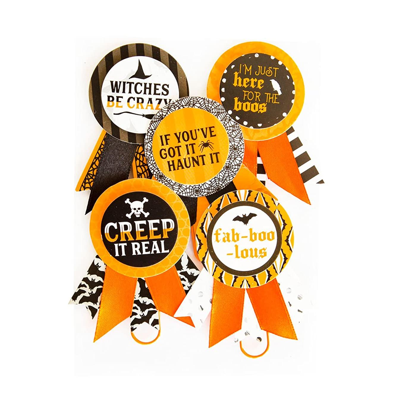 Halloween Rosette Paper Clips By Recollections