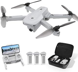 Holy Stone ドローン GPS搭載 折り畳み式 4Kカメラ付き フライト時間66分 バッテリー3個 収納ケース付き 90°調整可能 リターンモード フォローミーモード オプティカルフロー 高度維持 ヘッドレスモード 2.4GHz モード...