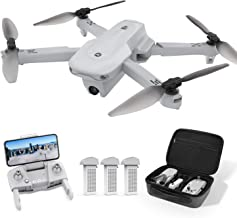 Holy Stone HS175 Drone with GPS, Foldable, 4K Camera, 66 Minutes, Flight Time, 3 Batteries, Storage Case, 90° Adjustable, Return Mode, Follow Me Mode, Optical Flow, Altitude Hold, Headless Mode, 2.4 GHz, Mode 1/2 Free Change, Domestic Certified