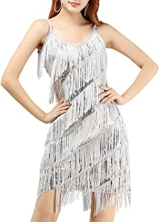 10-14 Details about  /Rubie/'s All the Jazz Women/'s Silver Sequin Flapper Dress 1920/'s Costume M