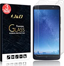 J&D Compatible for 3-Pack ZTE Blade Max 3/ZTE Max XL, ZTE N9560 Glass Screen Protector, [Tempered Glass] [Not Full Coverage] Clear Ballistic Glass Screen Protector for ZTE Blade Max 3 Screen Protector