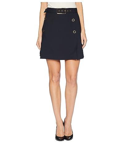 J.O.A. Button Detail Skirt (Navy) Women