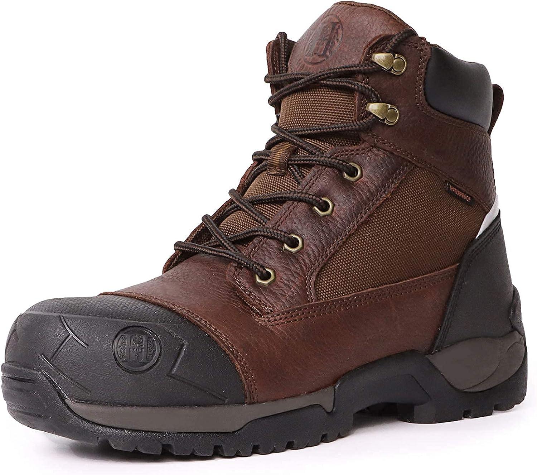 HANDMEN Work Boots for Men, 6