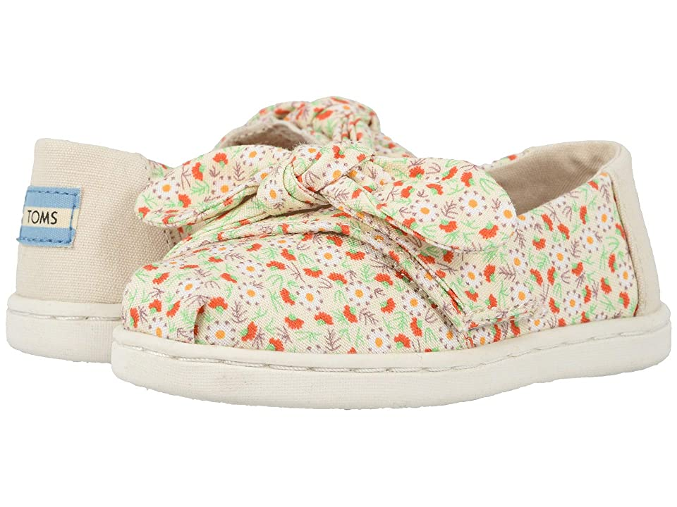 TOMS Kids Alpargata (Toddler/Little Kid) (Birch Local Floral Print/Bow) Girl