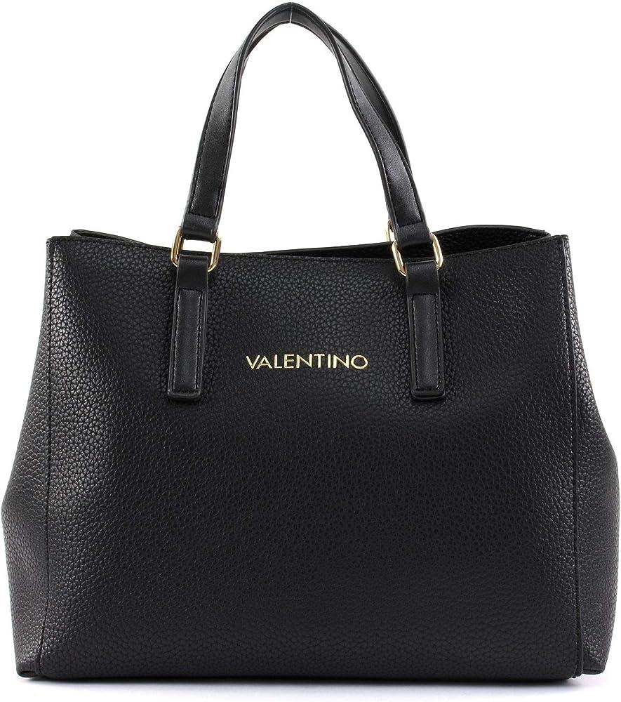 Mario valentino, borsa a mano da donna, in pelle sintetica, nera VBS2U803