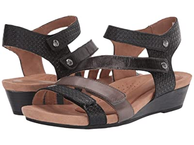 Cobb Hill Hollywood 4 Strap (Black/Multi) Women