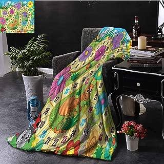 EDZEL Personalized Blankets Board Game Kids Theme Spring Meadow Warm Throws 60x51 Inch