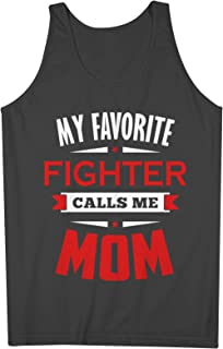 My Favorite Fighter Calls Me Mom Mother 男性用 Tank Top Sleeveless Shirt