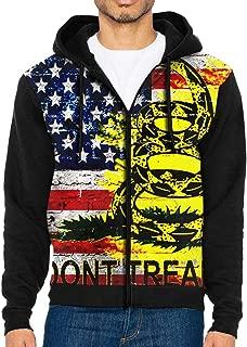Dont Tread On Me American Flag Full Zip Sweatshirt Drawstring Hoodies with Pockets