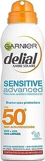 Garnier Delial Sensitive Advanced - Bruma Seca Protector Solar para Pieles Claras Sensibles e Intolerantes al Sol IP50+ -...