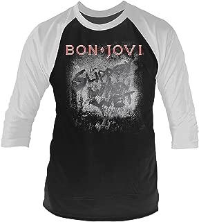 Bon Jovi 'Slippery When Wet' 3/4 Length Sleeve Raglan Baseball Shirt
