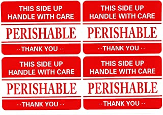 tianxiang 200 2x3 Fragile Handle Care Perishable Shipping Labels Stickers