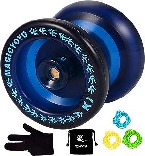 MAGICYOYO Responsive YoYo K1-Plus with Yoyo Sack + 3 Strings and Yo-Yo Glove Gift (Blue)