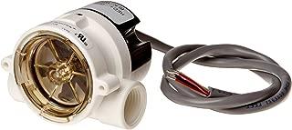 Gems Sensors RFS Series Polypropylene Flow Sensor Switch, Inline, Rotor Type, 24 VDC Input, 1.5-20.0 gpm Flow Setting Adjustment Range, 1/2