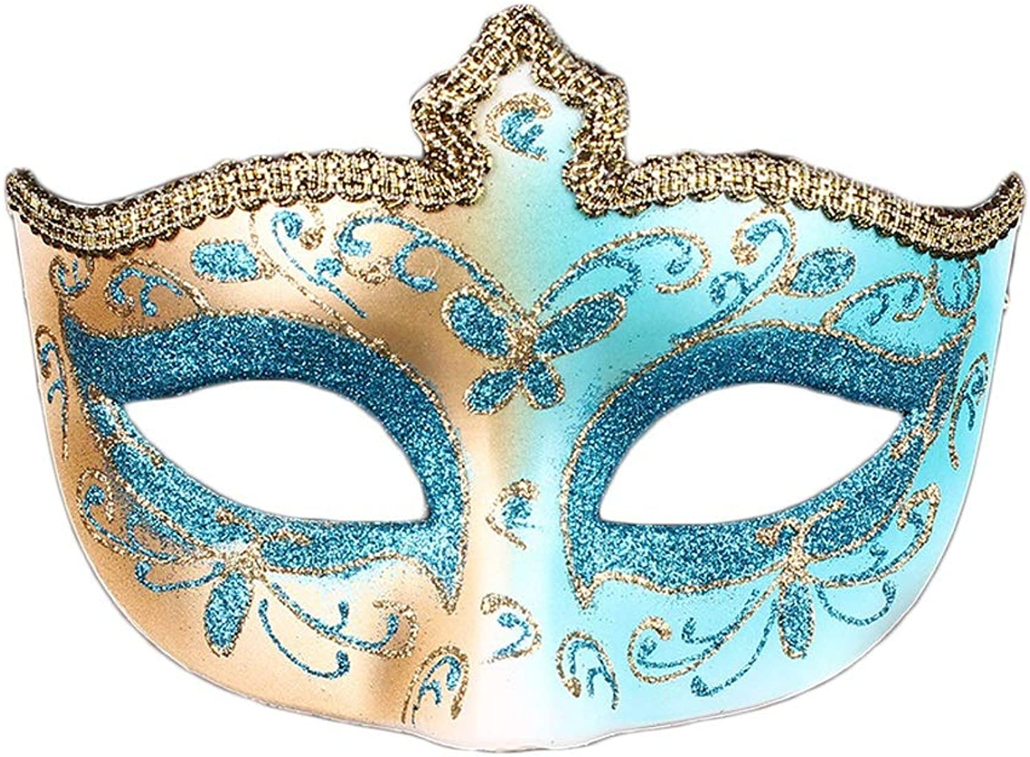 Vfdsvbdv Creative Masquerade Lace Mask Party Beauty Half Face Lady Wearing A Mask ( color   bluee )