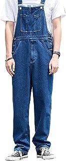 X-xyA Men's Casual Denim Bib Overalls Dungarees Classic Work Jeans Jumpsuits,Dark Blue,XXL