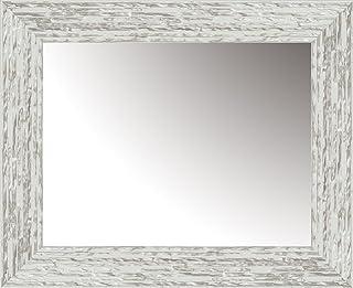 Lienzos Levante Espejo Decorativo vestidor/cabecero/aparador Madera Blanco y Plata 166 x 66 cm