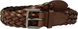 32mm Woven Belt in Leather