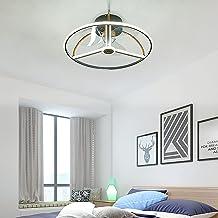 Plafondventilator Stil Met Verlichting En Afstandsbediening Dimbaar Ventilator Lamp Cirkel Plafondlamp Art Deco Voor Kinde...