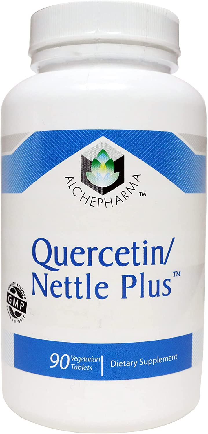 Quercetin and Nettle Plus - 3 Oklahoma City Mall Max 54% OFF Vegetarian Formula Tabs Tablet 90