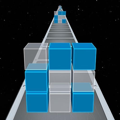 cubo de cores - quebra-cabeça sem fim - toque no cubo para mudar suas cores para combinar com os cubos de velocidade que se aproximam!