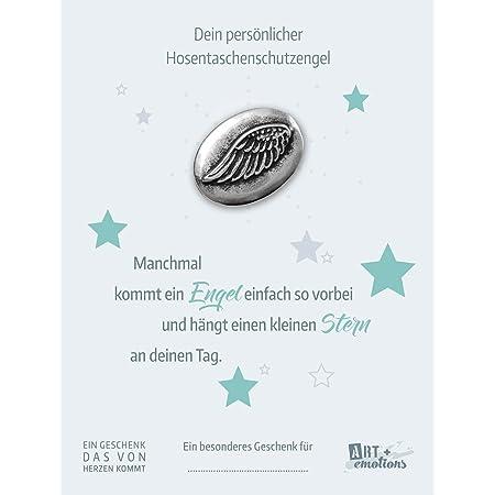 Hosentaschen Schutzengel fürs Auto für eine gute Fahrt Münze 925 versilbert