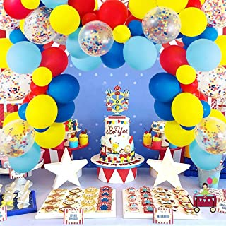 Beauenty 80 Pcs Party Supplies Balloons Arch Kit - Latex Balloons Confetti Balloon Garland Strip Set for Baby Shower, Paw ...