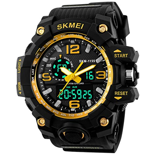 Gosasa Big Dial Digital Watch S SHOCK Men Military Army Watch Water  Resistant LED Sports Watches 62273a7f90