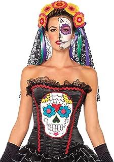 Leg Avenue Women's Sugar Skull Bustier Costume Accessory