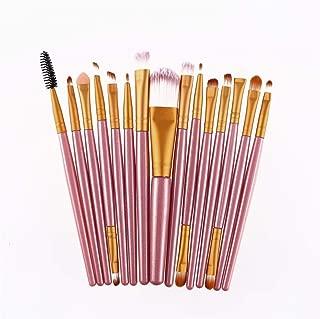 XIAFEIMANTIAN 15Pcs/Set Makeup Brushes Sets Kit Eyelash Lip Foundation Powder Eye Shadow Brow Cosmetic Tool
