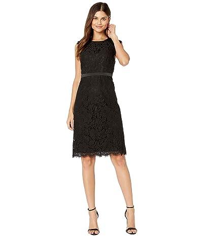 kensie Party Lace Sleeveless Dress KSDK8424 (Black) Women