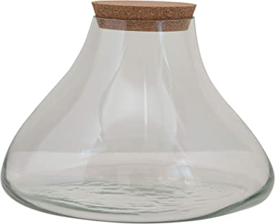 Creative Co-Op Glass Terranium/Jar with Cork Lid Terrarium, Clear